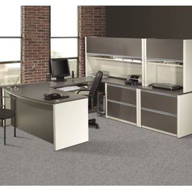awesome gray painted solid wood work station desk combined rustic exposed red bricks wall with office furniture desk also office desk