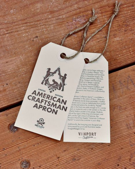 "Now in Stock: Vanport Outfitters x Hand-Eye Supply ""American Craftsman Apron"" - Core77"