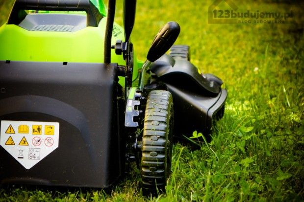 wyrzut boczny ścietej trawy funkcja mielenia kosiarka na baterie #greenworks