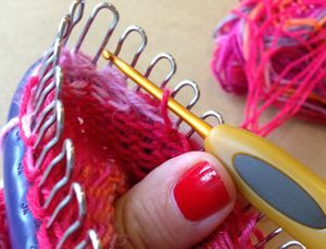 How to Knit the Heel of a sock with Prym Sock loom