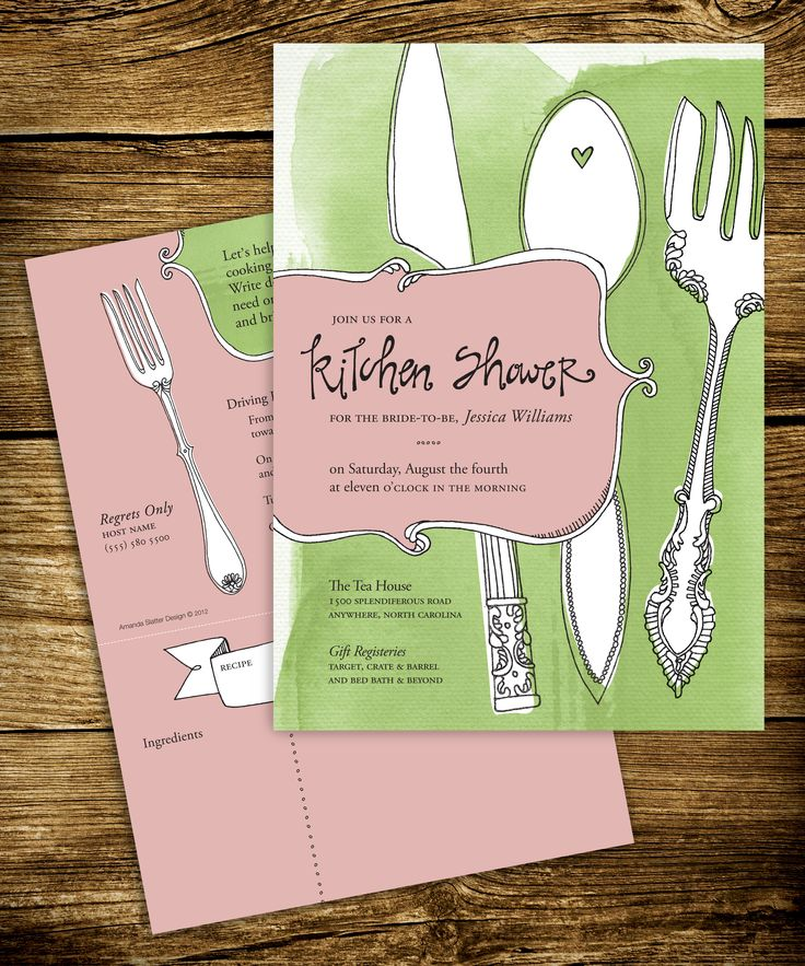 Kitchen Bridal Shower Invitation Designed By My Friend Amanda   Love Her  Style. Part 82