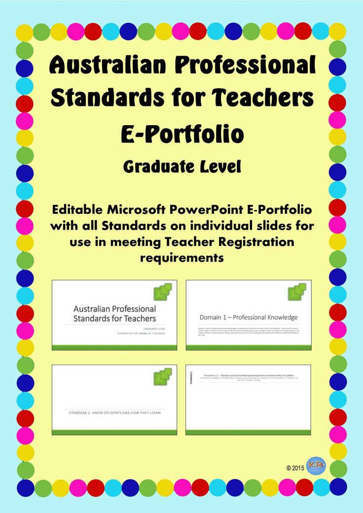 Australian Professional Standards for Teachers E Portfolio - Green Design at Graduate Standards - Editable portfolio for you to use and maintain to show how you meet the standards. Great for Teacher Registration, Performance Review and Self Improvement.