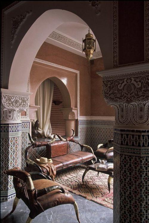 Marokkanische Wohnzimmer Deko Ideen -  Reichtum an Farben