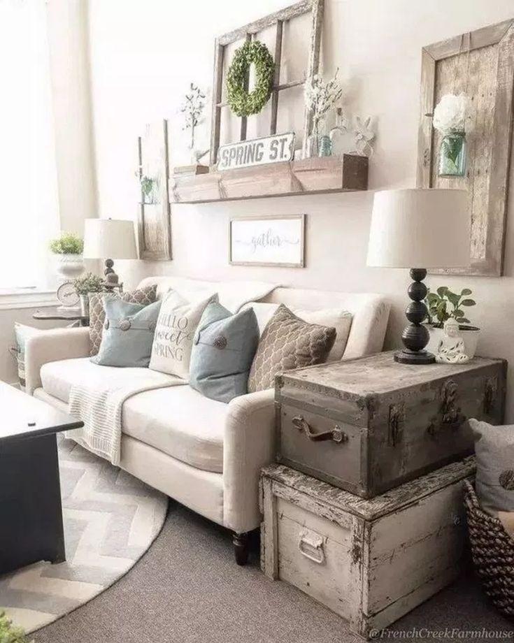 ✓96 beautiful farmhouse living room design and decor ideas ...