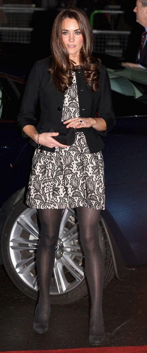 Catherine, Duchess of Cambridge arrives for a Gary Barlow Concert in support of The Prince's Trust, at the Royal Albert Hall wearing a Zara dress and a Ralph Lauren jacket.