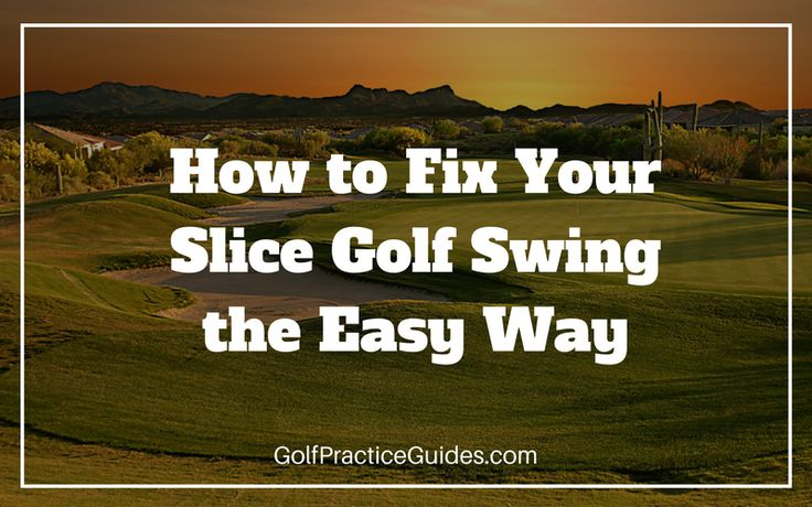 How to Fix Your Golf Slice for a Straighter Ball Flight. Find out the golf practice drills we recommend to fix your golf swing. Click the link to read it!