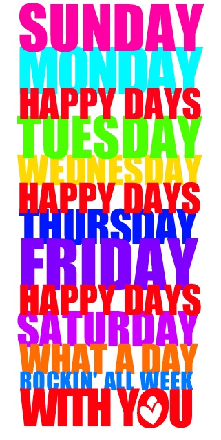Calendar Word Art : Best images about happy weekdays on pinterest