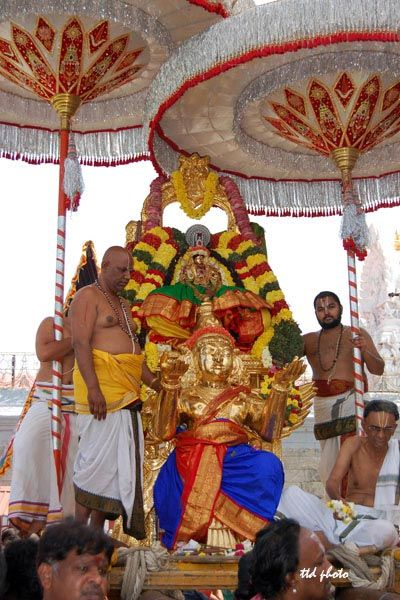 On Monday 26 January Tirumala Tirupati Devasthanam maintained temples in Tirupati and surrounding Tirupati has observed 'Rathasapthami' in a grand manner.
