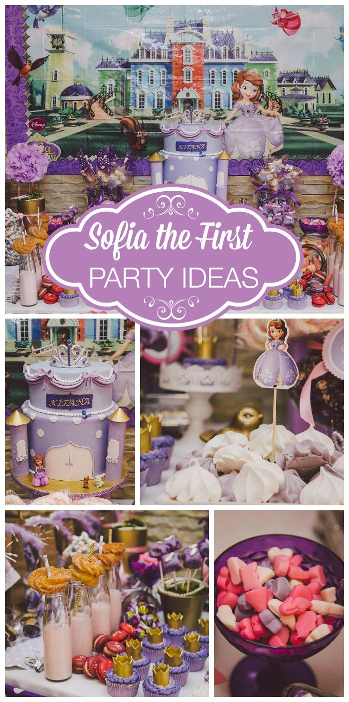 A Sofia the First Royal Princess High Tea girl birthday with a magician, face painter and DIY cupcakes!  See more party planning ideas at CatchMyParty.com!