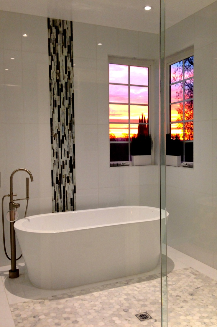 Vertical Mosaic Tile For Accent On The Wall. ThasosCarrara MarbleBathroom  DesignsBathroom ...