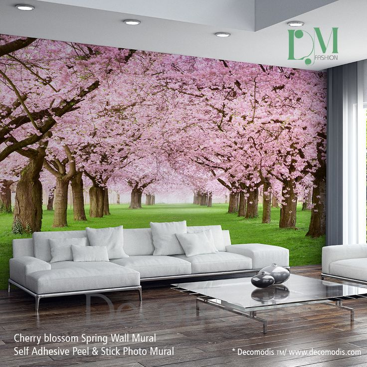 Best 25 photo mural ideas on pinterest 3d wallpaper for Cherry blossom wallpaper mural
