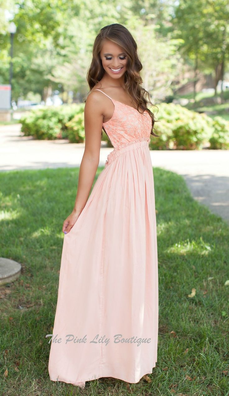 The Pink Lily Boutique - Once In A Lifetime Coral Maxi, $40.00 (http://thepinklilyboutique.com/once-in-a-lifetime-coral-maxi/)