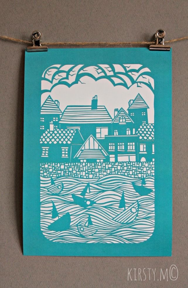 A3 'The Harbour' Print £20.00