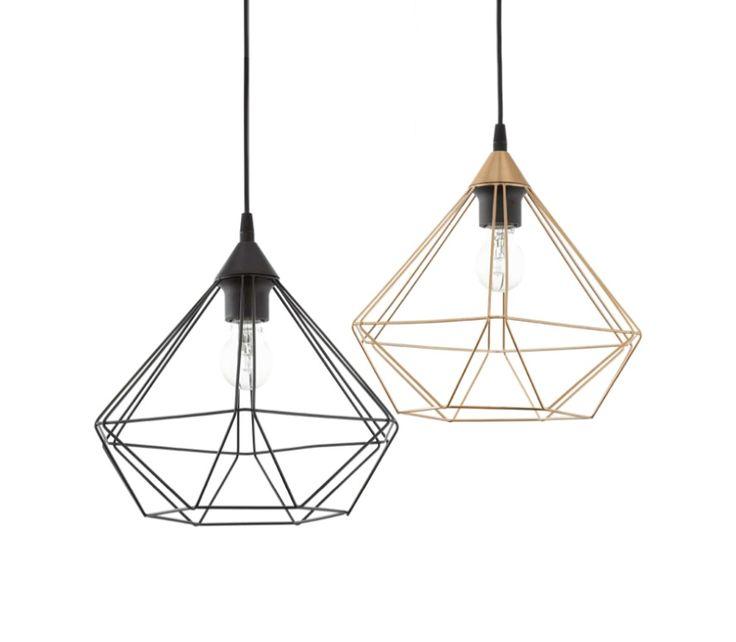 Tarbes Large 1 Light Black or Copper Cage Ceiling Pendant Eglo 94194 94188, $78.00