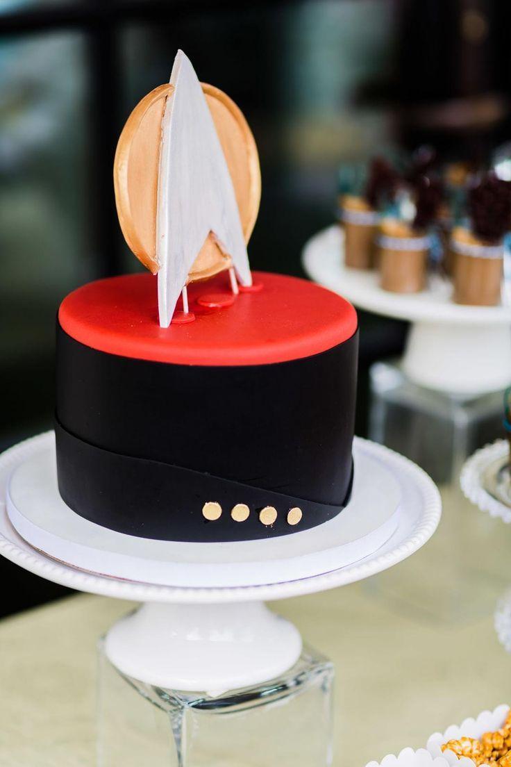 Star Trek, wedding desserts, groom's cake, black & red // Damion Hamilton Photographer