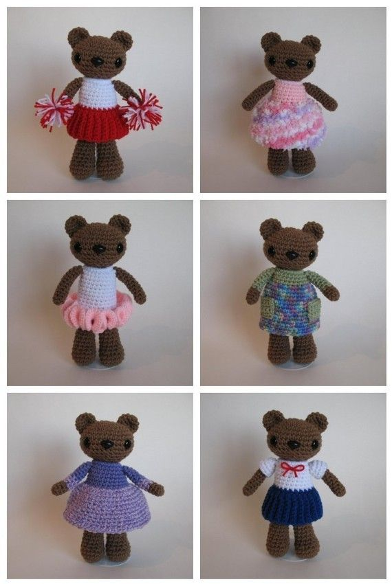Dress-up Bear PDF Pattern by djonesgirlz on Etsy