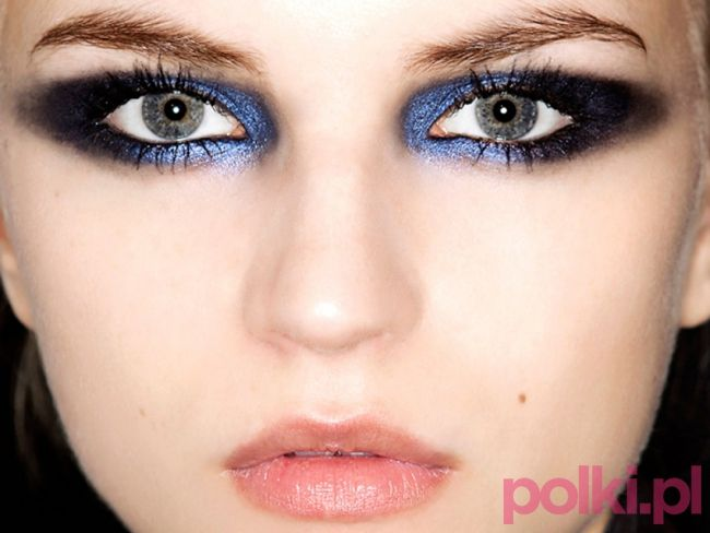 Granatowe #smoky eye #makeup #party
