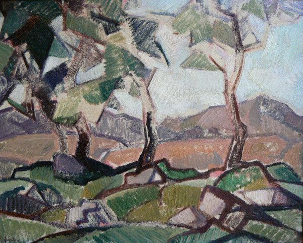 Samuel John Peploe - Arran Hills, Scotland, 1913