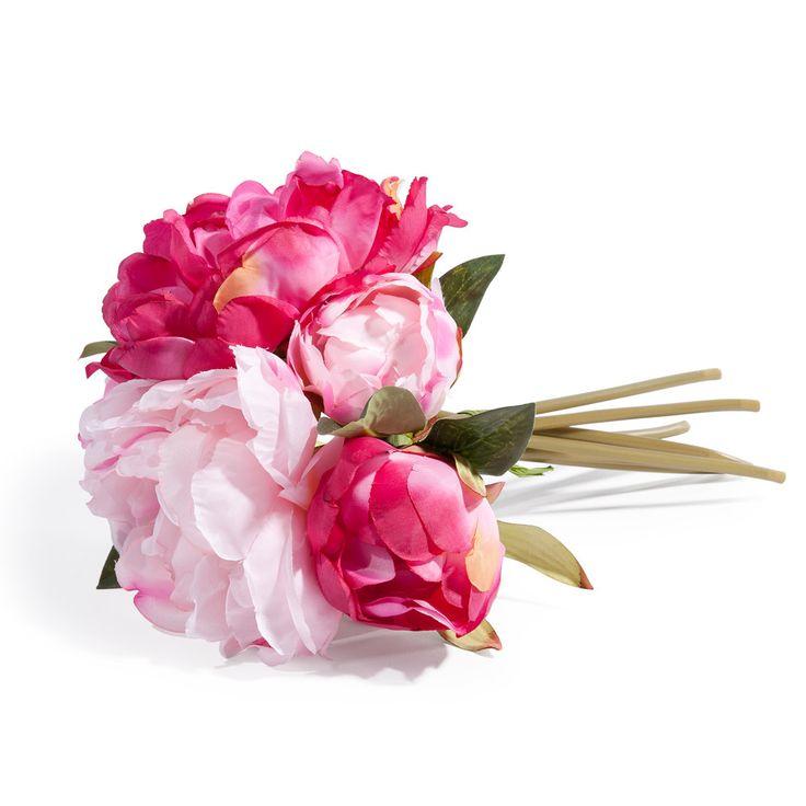 Bouquet de pivoines artificielles roses H 25 cm   Maisons du Monde
