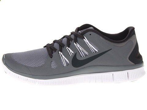 Nike Free 5.0 Black/Dark Grey/White/Metallic Dark Grey - Zappos.