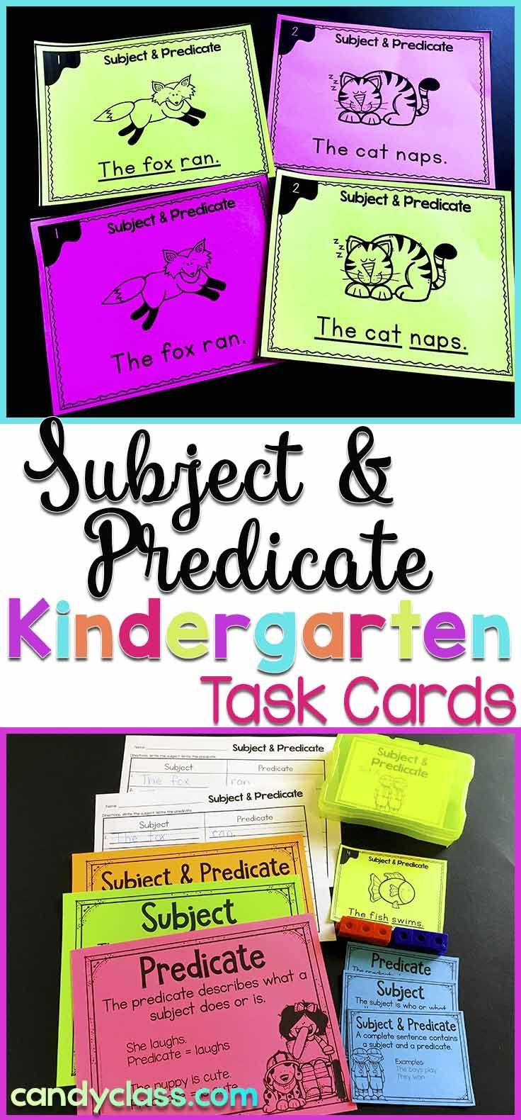 Looking for a way to teach subjects and predicates in kindergarten? These fun activities covering this important grammar topic are geared for kinders, but can also be used in a first grade classroom for intervention or extra practice. Anchor charts are included for introducing the lesson and fun games. Includes connecting Common Core standards.