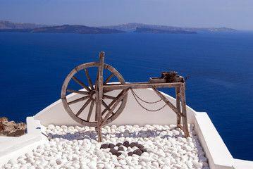 Decoration on Santorini island, Greece