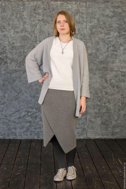 Пиджаки, жакеты ручной работы. Заказать Кардиган вязаный серый arria sweater copy. LAMA MIA丨Вязание на заказ. Ярмарка Мастеров.