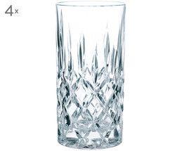 Kristall-Longdrinkgläser Noblesse (4er-Set)