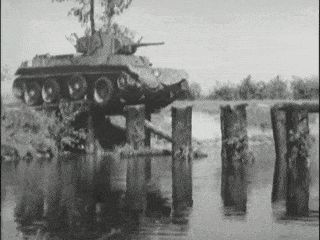 """"""" TANKS for not completing the bridge properly you fucking incompetent army engineers !! You would have done the required overtime if you were driving this ONE WAY 'submarine' !! It weighs quite a lot, so kinda sinks really quickly !!! """" But this tank commander drove his tank perfectly in a vehicle that has no windscreen !! Impressive driving or just went for it and got away with it ? (A bit of both no doubt !!)"""