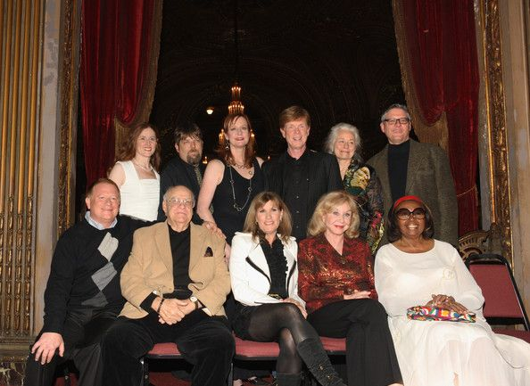"(L-R) Walton's cast members (front row):  Eric Scott, David Huddleston,Judy Norton, Michael Learned, Lynn Hamilton, (back row): Kami Cotler, David Harper, Mary McDonough, Jon  Walmsley, Ellen Geer, and Radames Pera attend the 40th Anniversary Reunion Of ""The Waltons"" at Landmark Loew's - Jersey City on December 2, 2011 in Jersey City, New Jersey."