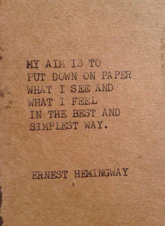 Ernest hemmingway essay