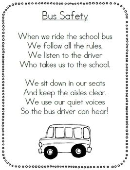 SCHOOL BUS SAFETY PACK - TeachersPayTeachers.com