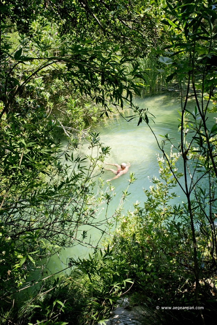 Swimming at one of the magical secret lakes of Polilimnio
