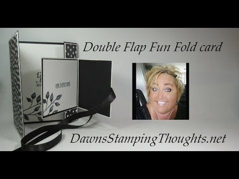 Double Flap Fun Fold card - YouTube