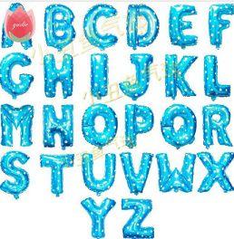 Palloncini lettera dell'alfabeto disponibile in due colori : Blu e Rosa. http://s.click.aliexpress.com/e/BQRNjAI