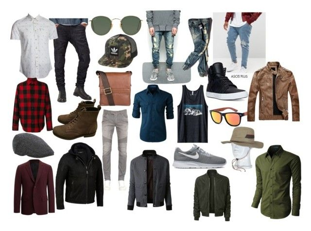 """Men's wear"" by hemmiestyle on Polyvore featuring G-Star Raw, ASOS, Balmain, Kavu, Ben Sherman, LE3NO, NIKE, Supra, Pierre Hardy and Ray-Ban"