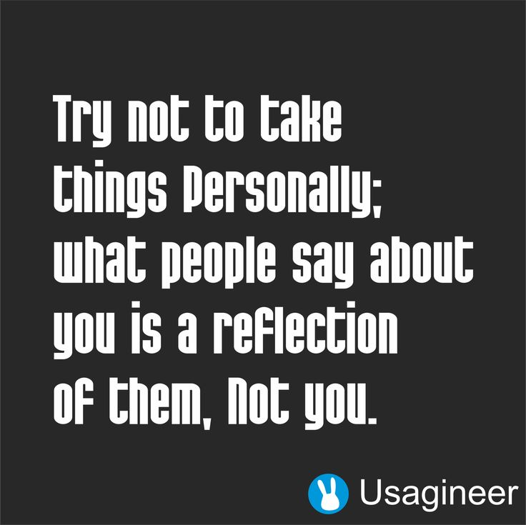 TRY NOT TO TAKE THINGS PERSONALLY WHAT PEOPLE SAY ABOUT YOU IS A REFLECTION OF THEM NOT YOU QUOTE VINYL DECAL STICKER