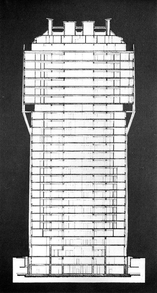Torre Velasca ERNESTO NATHAN ROGERS. http://milanoarte.net/it/visite-guidate-a-milano/itinerari-di-architettura-a-milano