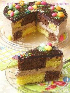 Tort mozaic cu crema ganache ~ Culorile din farfurie