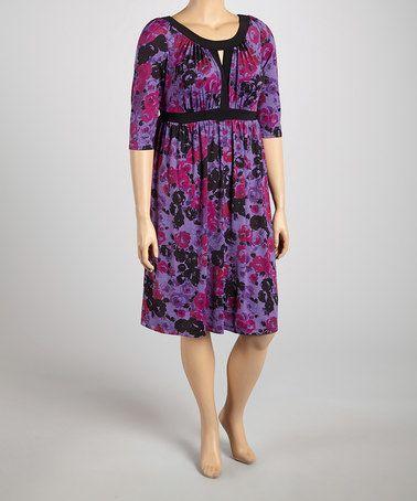 3 quarter sleeve dresses plus size zulily