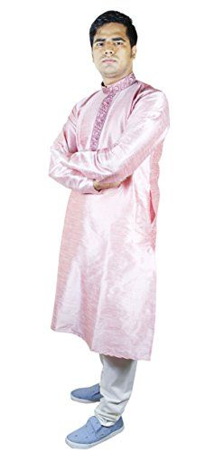 Mens Clothes Dress Kurta Pajama Pants Indian Dress For Men Pink Size L RoyaltyLane http://www.amazon.co.uk/dp/B016RN8690/ref=cm_sw_r_pi_dp_eGCRwb00T79BW
