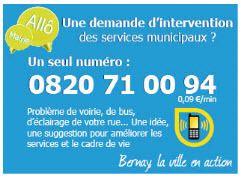"""Nouveau """"Numero d'appel"""" vers les services municipaux de Bernay..."""