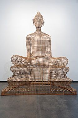 Sopheap Pich / Buddha: Bamboo, Art Sculpture, Plywood, Wire, 2011 Rattan