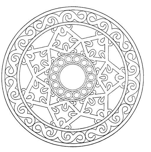 Coloring pages special mandala 115