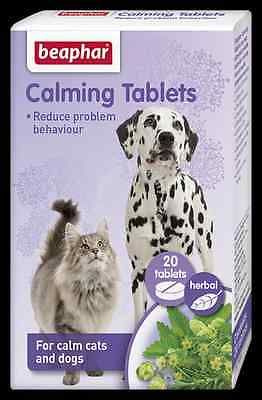 Beaphar Calming Tablets for Cats & Dogs 20 tabs natural herbal fireworks thunder