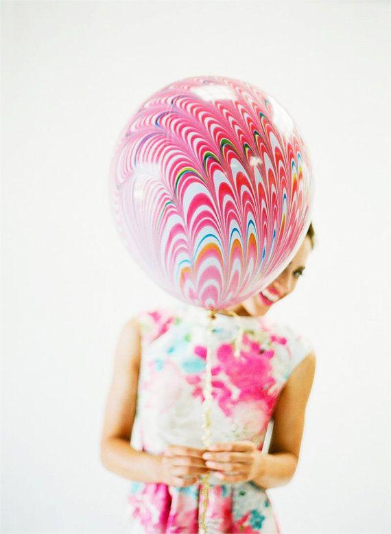 20 Marble Balloon by dropitMODERN on Etsy, $7.50