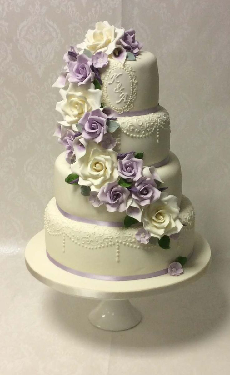 57 best images about Purple Themed Wedding Cakes on Pinterest