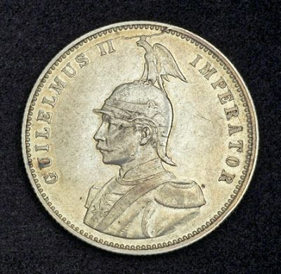 German East Africa coins Silver Rupie Rupee Coin of 1911, Kaiser Wilhelm II