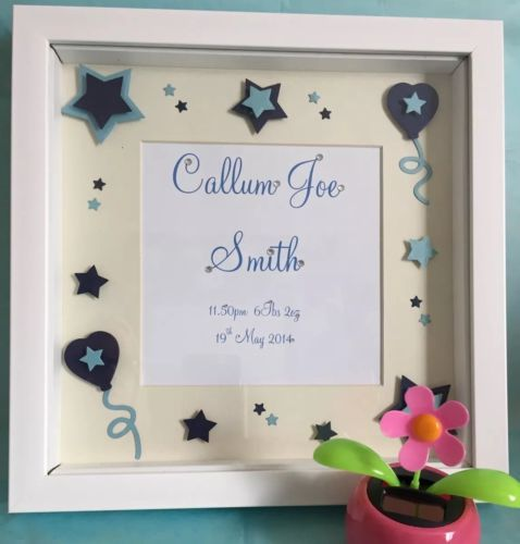 #Handmade personalised keepsake new baby boys christening gift #gifts box #frames, View more on the LINK: http://www.zeppy.io/product/gb/2/252381092087/