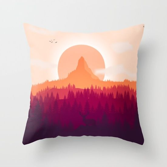 Can You See Deer In THe Art Throw Pillow